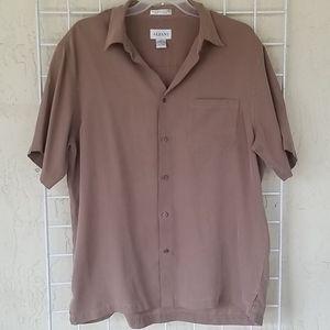 Men's Alfani Short Sleeve Button Down Size L EUC